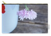 Sweet Pea And Corn Flowers Carry-all Pouch