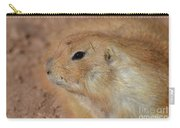 Sweet Profile Of A Prairie Dog Playing In Dirt Carry-all Pouch