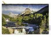 Swiftcurrent Falls Glacier Park 3 Carry-all Pouch