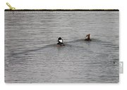 Swiming Hooded Mergansers Carry-all Pouch