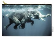 Swimming Elephant Carry-all Pouch