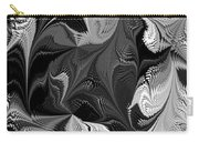 Swimming In Black And White - Abstract Carry-all Pouch