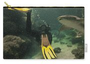 Swimming With The Sharks Carry-all Pouch