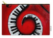 Swirling Piano Keys- Music In Motion Carry-all Pouch