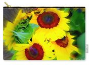 Swirling Sunflowers Carry-all Pouch