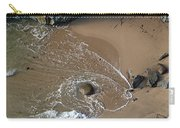 Swirling Surf And Rocks Carry-all Pouch by Charlene Mitchell