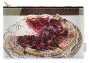 Swiss Custard Tart With Sour Cherries Carry-all Pouch