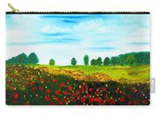 Swiss Poppies Carry-all Pouch