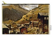 Swiss Travel Poster, 1898 Carry-all Pouch