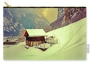 Switzerland Alps Grutschap Alpine Meadow Winter  Carry-all Pouch