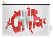 Switzerland Typographic Map Flag Carry-all Pouch