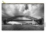 Sydney Harbor Bridge Black And White V2 Carry-all Pouch