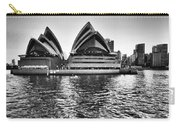 Sydney Opera House-black And White Carry-all Pouch