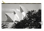 Sydney Opera House Black And White Carry-all Pouch