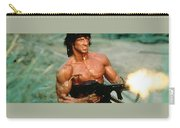 Sylvester Stallone And Browning Machine Gun Rambo 1985 Carry-all Pouch