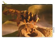 Syrphid Fly On Fossil Crinoid Carry-all Pouch