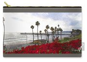 T-street View Of San Clemente Pier Carry-all Pouch