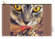 Tabby Cat Licking Paw Carry-all Pouch