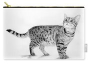 Tabby Cat Looking Up Carry-all Pouch