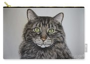 Tabby-lil' Bit Carry-all Pouch by Megan Cohen