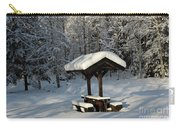 Table By Cross Country Ski Tracks Carry-all Pouch