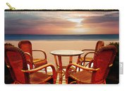 Table For Four At The Beach At Sunset Carry-all Pouch
