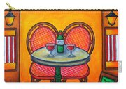 Table For Two In Paris Carry-all Pouch by Lisa  Lorenz