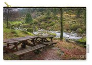Tables By The River Carry-all Pouch by Carlos Caetano