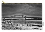 Tacony Palmyra Bridge In B And W Carry-all Pouch