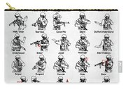 Tactical Hand Signals Carry-all Pouch