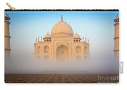 Taj Mahal In The Mist Carry-all Pouch