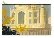 Taj Mahal Visit India Vintage Travel Poster Restored Carry-all Pouch