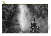 Takakkaw Falls British Columbia Bw Carry-all Pouch