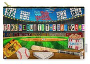 Take Me Out To The Ballgame Recycled Vintage License Plate Art Collage Carry-all Pouch
