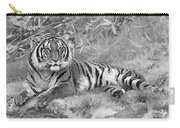 Takin It Easy Tiger Black And White Carry-all Pouch