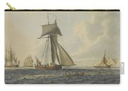 Taking Crew To An English Frigate Near The Needles Isle Of Wight By Robert Cleveley Carry-all Pouch
