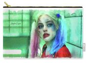 Talking To Harley Quinn - Aquarell Style Carry-all Pouch