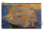 Tall Ship In The Sunset Carry-all Pouch