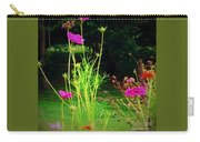 Tall Wispy Flowers In Pink Carry-all Pouch