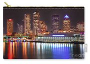 Tampa Skyline At Night Early Evening Carry-all Pouch