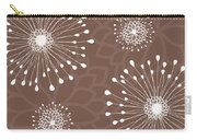 Tan Floral Carry-all Pouch
