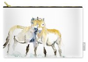 Tan Horses Carry-all Pouch