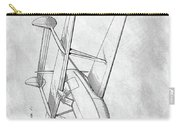 Tandem Biplane Patent Carry-all Pouch