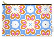Tangerine And Sky Floral Pattern- Art By Linda Woods Carry-all Pouch