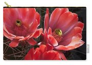 Tangerine Cactus Flower Carry-all Pouch