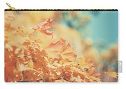 Tangerine Leaves And Turquoise Skies Carry-all Pouch