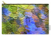 Tangerine Twist Mosaic Abstract Art Carry-all Pouch