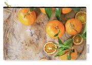 Tangerines With Leaves Carry-all Pouch
