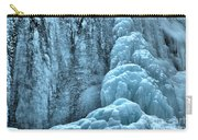 Tangle Falls Frozen In Blue Carry-all Pouch
