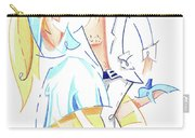 Tango Nuevo - Gancho Step - Dancing Illustration Carry-all Pouch